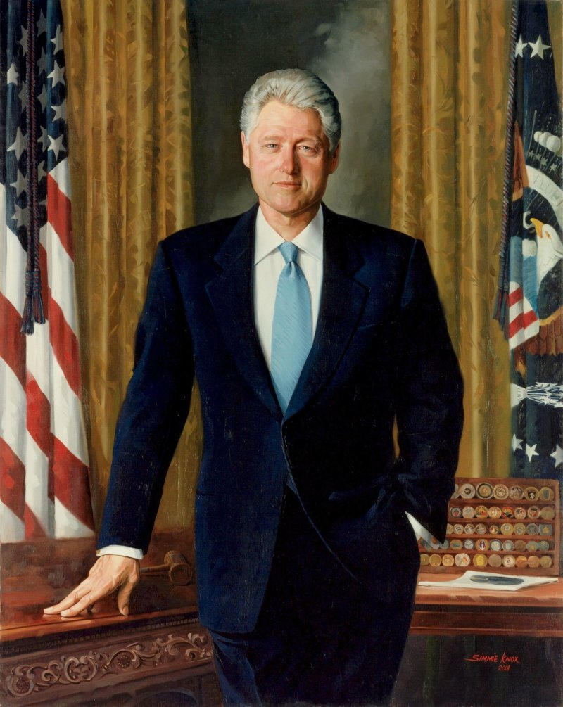 Bill Clinton White House Portrait